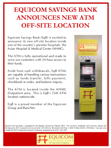 Asian Hospital ATM Location 01092018